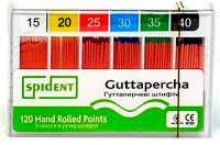 Штифты гуттаперчивые Spident Guttapercha (конус 02, 120 шт)