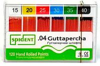 Штифты гуттаперчивые Spident Guttapercha (конус 04, 60 шт)