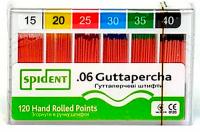 Штифты гуттаперчивые Spident Guttapercha (конус 06, 60 шт)