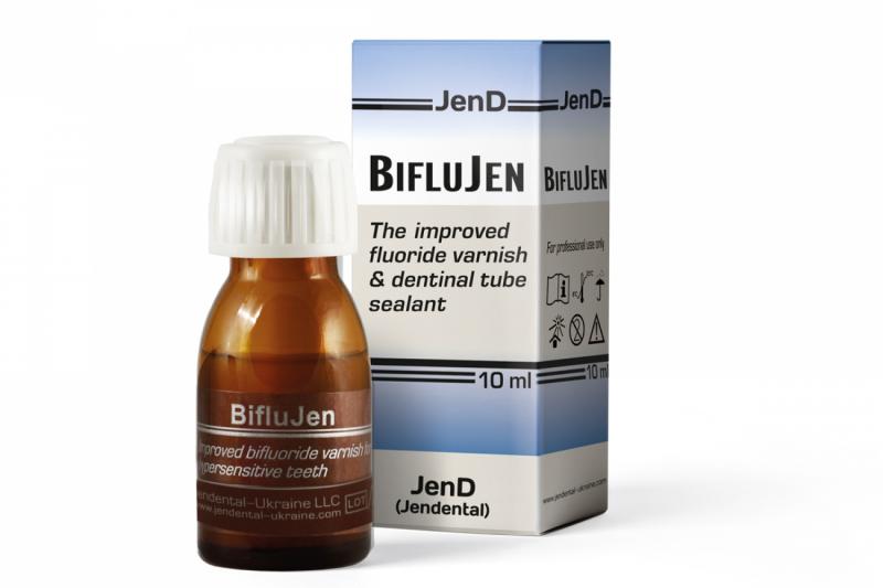 Бифторидный лак для лечения гиперестезии Jendental Biflujen