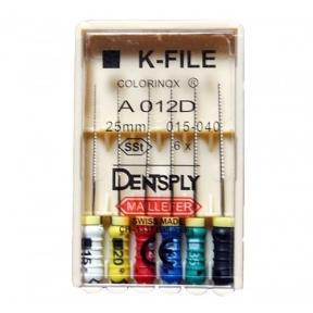 Ручные дрильборы Dentsply K-Files Colorinox (копия) (25 мм)