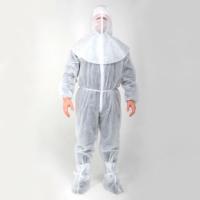 Медицинский защитный костюм белый, не ламинированный (костюм, шлем и бахилы)