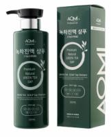 Шампунь для волос с экстрактом зеленого чая AOMI Green Tea Scalp Sap Shampoo (500 ml) (8809353536882/8809631871315)