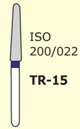 Бор конус с закругленным концом Mani TR-15 3 шт