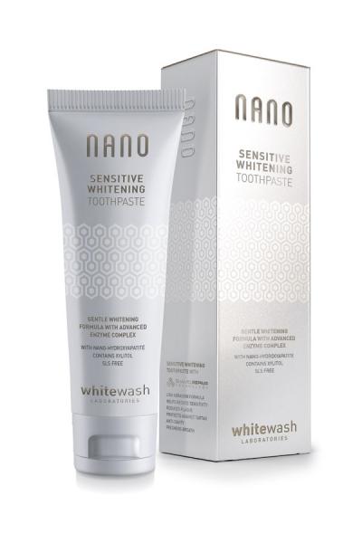 Зубная паста WhiteWash NANO Sensitive Whitening Toothpaste With Hydroxyapatite (для чувствительных зубов - 75 мл) (NT-02)