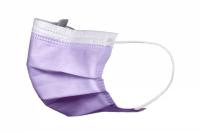 Маски медицинские Akzenta фиолетовые (50 шт)