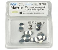 Матрица металлическая контурная секционная Latus (35 мкм, средняя, 10 шт) (3221S)