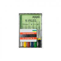 Файлы ручные Mani K-File (25 мм, 6 шт) (оригинал)