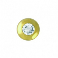 Скайс (страза) на зубы Малый бриллиант в круглой оправе ( TW 26 )