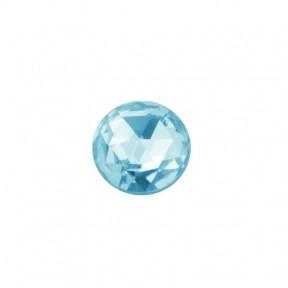 Скайс (страза) на зубы Сфера голубой лед фианит ( DJ 61 )