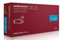 Резиновые перчатки неопудренные Mercator Medical Ambulance high risk