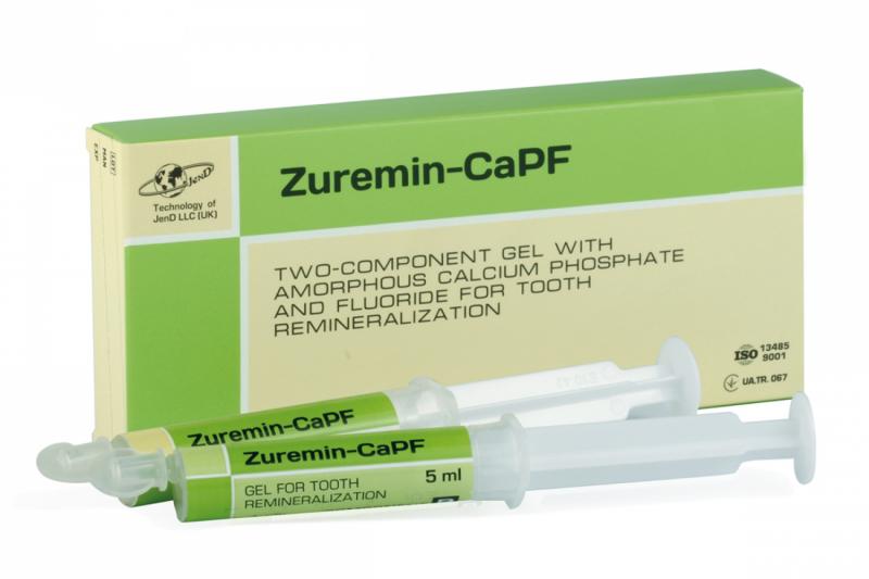 Двухкомпонентный гель для реминерализации зубов Jendental Zuremin-CaPF