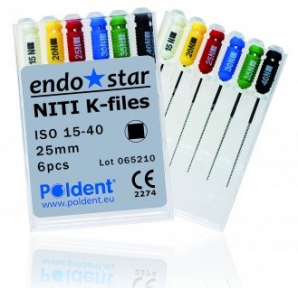 Файлы Poldent Endostar NiTi K-Files (25 мм)