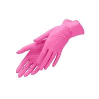 Перчатки нитриловые розовые 100 шт