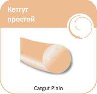 Кетгут Olimp простой рассасывающийся шовный материал 5\0 50 см