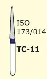 Бор конус с острым концом Mani TС-11 3 шт