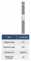 Штрипсы металлические Microdont 4 мм (гладкий центр, 6 шт)