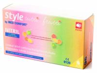 Нитриловые перчатки Style By MED-COMFORT Tutti Frutti (цвет в ассортименте)