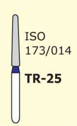 Бор конус с закругленным концом Mani TR-25 3 шт