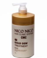 Маска для волос с золотом NICO NICO Gold Dew Treatment (1000 ml) (8809631870738)