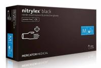 Черные нитриловые перчатки Mercator Medical Nitrylex PF Black