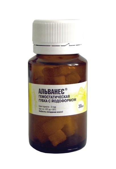 Губка VladMiva Альванес с йодоформом (30 шт)