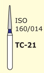 Бор конус с острым концом Mani TС-21 3 шт
