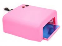 Лампа ультрафиолетовая для маникюра OEM L-13, розовая