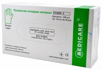 Латексные перчатки Medicare без пудры (100 шт)