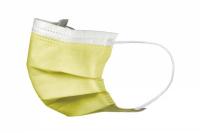 Маски медицинские Akzenta желтые (50 шт)