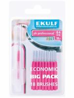 Щетки для межзубных промежутков Ekulf Ph Professional