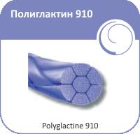 Полиглактин 910 Olimp 1-90 см плетеный фиолетовый