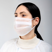 Трехслойная маска (розовая)