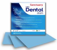 Коффердам латексный Sanctuary Dental Dam Silk Blue 152х152 мм, 36 шт (голубой, мятный)