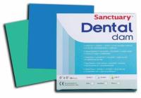 Коффердам латексный Sanctuary Dental Dam 127х127 мм, 52 шт (зеленый, мятный)