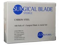 Лезвия для скальпеля Luxsutures Surgical Blade Carbon Steel 100 шт