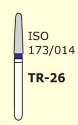 Бор конус с закругленным концом Mani TR-26 3 шт