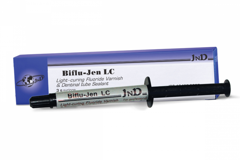 Однокомпонентный светоотверждаемый фторлак и герметик Jendental Biflujen LC