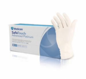 Перчатки смотровые латексные без пудры н/с Medicom SafeTouch Размер М Просрочка: 08.19