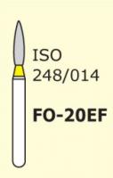 Бор пламеобразный, стрельчатый кончик для препарирования Mani FO-20EF серия Extra Fine 3 шт