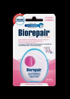Расширающая зубная нить-флосс Biorepair с гидроксиапатитом и гиалурованой кислотой (30 м)