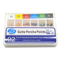 Штифты гуттаперчевые HTM Gutta Percha Points (120 шт)