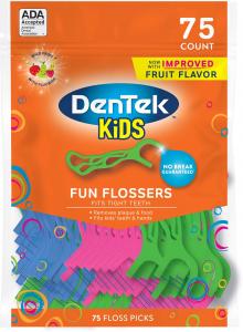 Детские флоссы с держателем Dentek Kids Fun Flossers (047701002100) (2.0010)