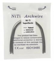 Дуга Niti DTC суперэластичная натуральная N141-1822U (0,018 x 0,022 верхняя челюсть, 10 шт)