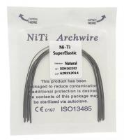 Дуга Niti DTC суперэластичная натуральная N141-14L (0,014 нижняя челюсть, 10 шт)
