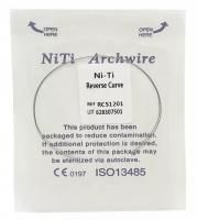 Дуга Niti DTC реверсионная N341-12U (0,012 верхняя челюсть, 2 шт)