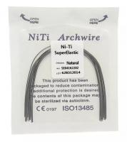 Дуга Niti DTC суперэластичная натуральная N141-20U (0,020 верхняя челюсть, 10 шт)