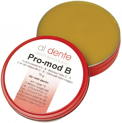 Воск для поднутрений Al Dente PRO-MOD B (дентиновый, 70 г) (02-1440)