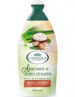 Гель для душа и ванны L'Angelica Питание и защита с алоэ вера и маслом Ши