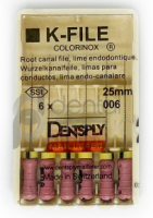Ручные дрильборы Dentsply K-Files Colorinox (копия) (25 мм)